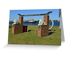STOCKTON FORESHORE, NEWCASTLE, NSW. Greeting Card