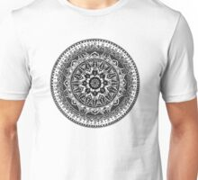 Black and White Mandala Pattern Unisex T-Shirt
