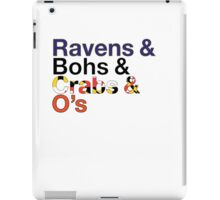 Helvetica Maryland Design iPad Case/Skin