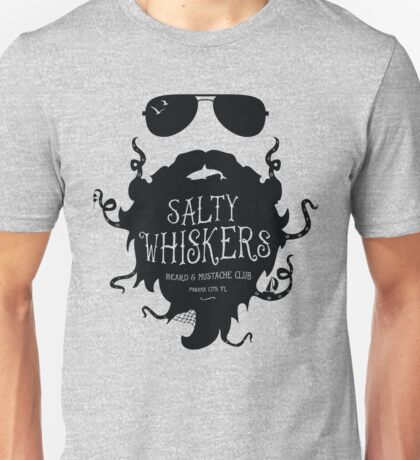 Salty Whiskers Beard & Mustache Club Unisex T-Shirt