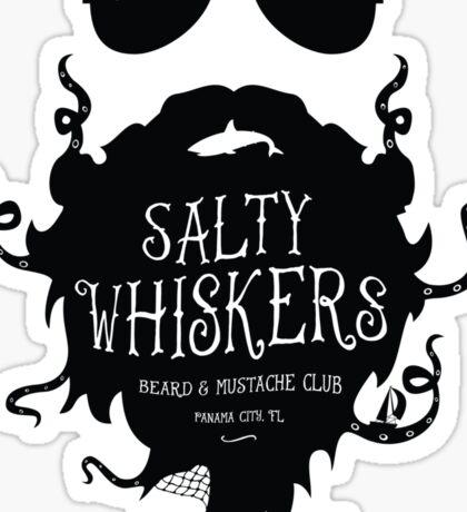Salty Whiskers Beard & Mustache Club Sticker