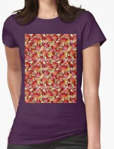Romantic Petals Womens Fitted T-Shirt