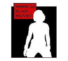 Where is Black Widow? Photographic Print