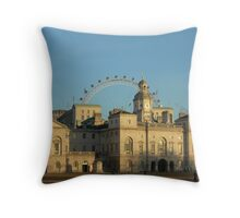 Sun setting on Horse Guards, Whitehall Throw Pillow