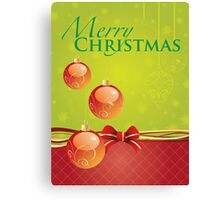Christmas Card - Package Canvas Print