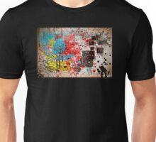Abstract, Splatter, Paint, Print, Thrown paint, jackson pollock, painting, art, picture, poster, drip, aged, expressionist, pop art, liquid, action, joe badon Unisex T-Shirt