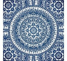 Blue Mandala Pattern Photographic Print