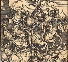 Albrecht Dürer or Durer The Four Horsemen by wetdryvac