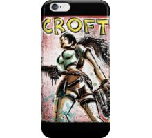 Lara Croft, Tomb Raider, Art, Print, Video Game, Movie, Comic Book, Geekery, Playstation, Illustration,Drawing, Birthday Present, joe badon, nintendo, sega, film, movie iPhone Case/Skin