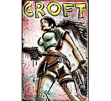 Lara Croft, Tomb Raider, Art, Print, Video Game, Movie, Comic Book, Geekery, Playstation, Illustration,Drawing, Birthday Present, joe badon, nintendo, sega, film, movie Photographic Print