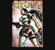 Lara Croft, Tomb Raider, Art, Print, Video Game, Movie, Comic Book, Geekery, Playstation, Illustration,Drawing, Birthday Present, joe badon, nintendo, sega, film, movie Unisex T-Shirt