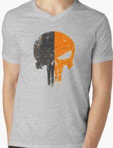 Punisher Deathstroke Mens V-Neck T-Shirt