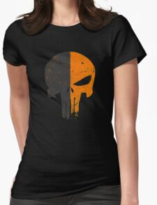 Punisher Deathstroke Womens Fitted T-Shirt