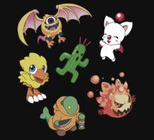 Final Fantasy Mascots - Moogle, Bomb, Tonberry, Chocobo, Ahriman, Cactuar Kids Clothes
