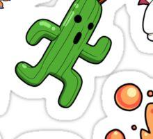 Final Fantasy Mascots - Moogle, Bomb, Tonberry, Chocobo, Ahriman, Cactuar Sticker