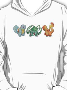 Pokemon - Starting Pokemon - Bulbasaur, Charmander, Squirtle T-Shirt