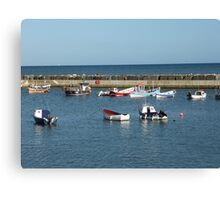 Tranquil harbour scene Canvas Print