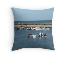 Tranquil harbour scene Throw Pillow