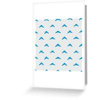 Totoro Inspired Blue Boomerang Pattern Greeting Card