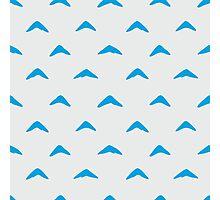 Totoro Inspired Blue Boomerang Pattern Photographic Print