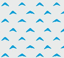 Totoro Inspired Blue Boomerang Pattern by pidesignprints