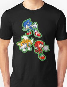 Sonic the Hedgehog - Sonic, Tails, and Knuckles Unisex T-Shirt