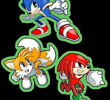 Sonic the Hedgehog - Sonic, Tails, and Knuckles by 57MEDIA