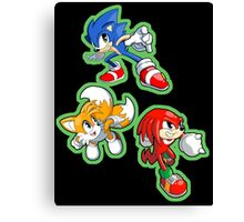 Sonic the Hedgehog - Sonic, Tails, and Knuckles Canvas Print