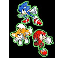 Sonic the Hedgehog - Sonic, Tails, and Knuckles Photographic Print