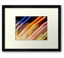 Coloured Straights Framed Print