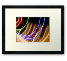 Coloured Curves Framed Print