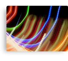 Coloured Curves Canvas Print
