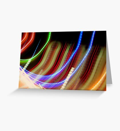 Coloured Curves Greeting Card