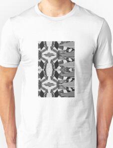 Black and White Aztec Print Unisex T-Shirt