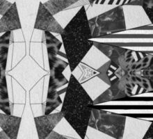 Black and White Aztec Print Sticker