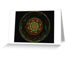 Tarnished Copper Medallion Greeting Card
