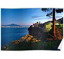 Pre Sunrise, Vico Equense. Italy Poster