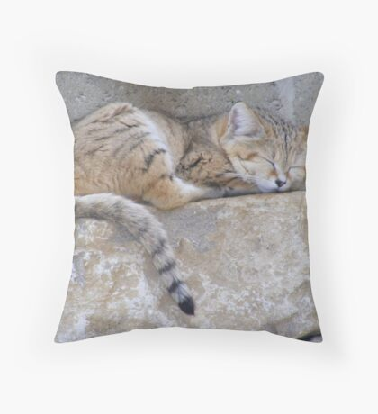 Sand Cat - Marwell Wildlife Throw Pillow