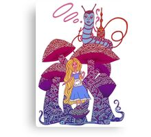 Alice and The Hookah Smoking Caterpillar Canvas Print