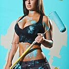 Caution: Models At Work - The Painter by Jeff Zoet