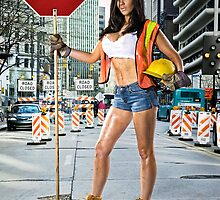 Caution: Models At Work - The Road Worker by Jeff Zoet