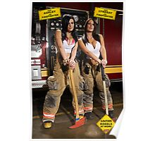 Caution: Models At Work - The Firefighters Poster
