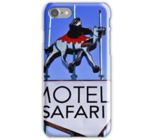 Old Route 66 Motel Safari Sign  iPhone Case/Skin