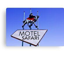 Old Route 66 Motel Safari Sign  Canvas Print