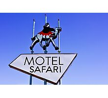Old Route 66 Motel Safari Sign  Photographic Print