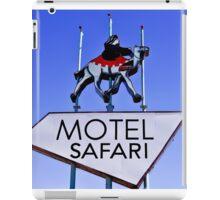 Old Route 66 Motel Safari Sign  iPad Case/Skin