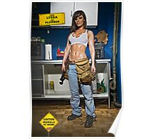 Caution: Models At Work - The Plumber Poster