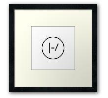 BLACK Minimalistic Twenty One Pilots Logo Framed Print