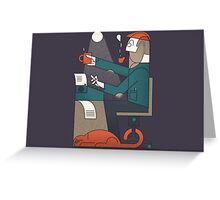 The Typing Man Greeting Card