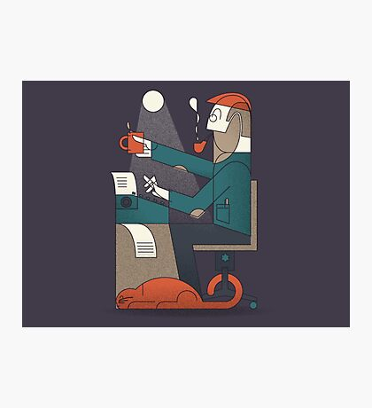 The Typing Man Photographic Print